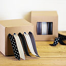 Monochrome Ribbon and Dispenser Set