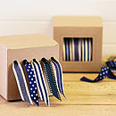Navy Ribbon and Dispenser Set