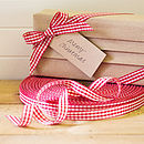 Classic Red Gingham Ribbon 100 Metre Roll