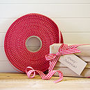 Jane Means classic red gingham ribbon 100M