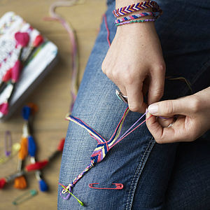 Friendship Bracelet Kit - indoor activities