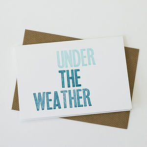'Under The Weather' Letterpress Card