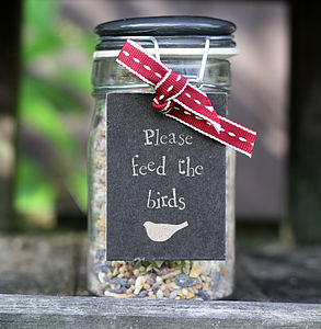 Jar Of Wild Bird Seed - food, feeding & treats
