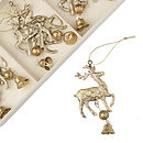 Gold Reindeer Decorations Set Of Nine