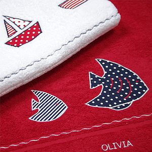 Personalised Red Swimming Towel - bed, bath & table linen
