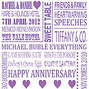 Personalised Anniversary Print - Purple