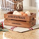 Vintage Style French Egg Crate