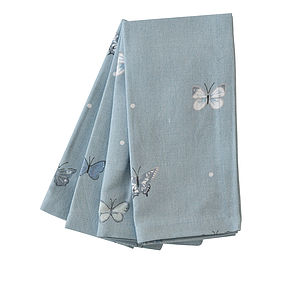 Set Of Four Butterfly Napkins - kitchen