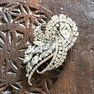 Crystal Swirl Bridal Brooch - wedding fashion
