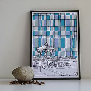 Bandstand Print - architecture & buildings