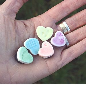 Five Mini Heart Magnets - storage & organising
