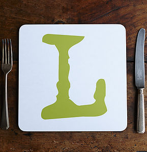 Coloured Alphabet Placemats - placemats & coasters