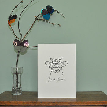Printed Best Wishes Card