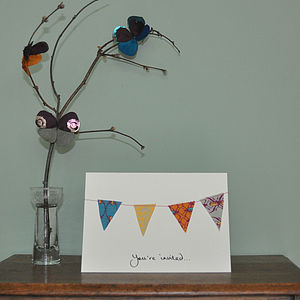 Cotton Bunting Card