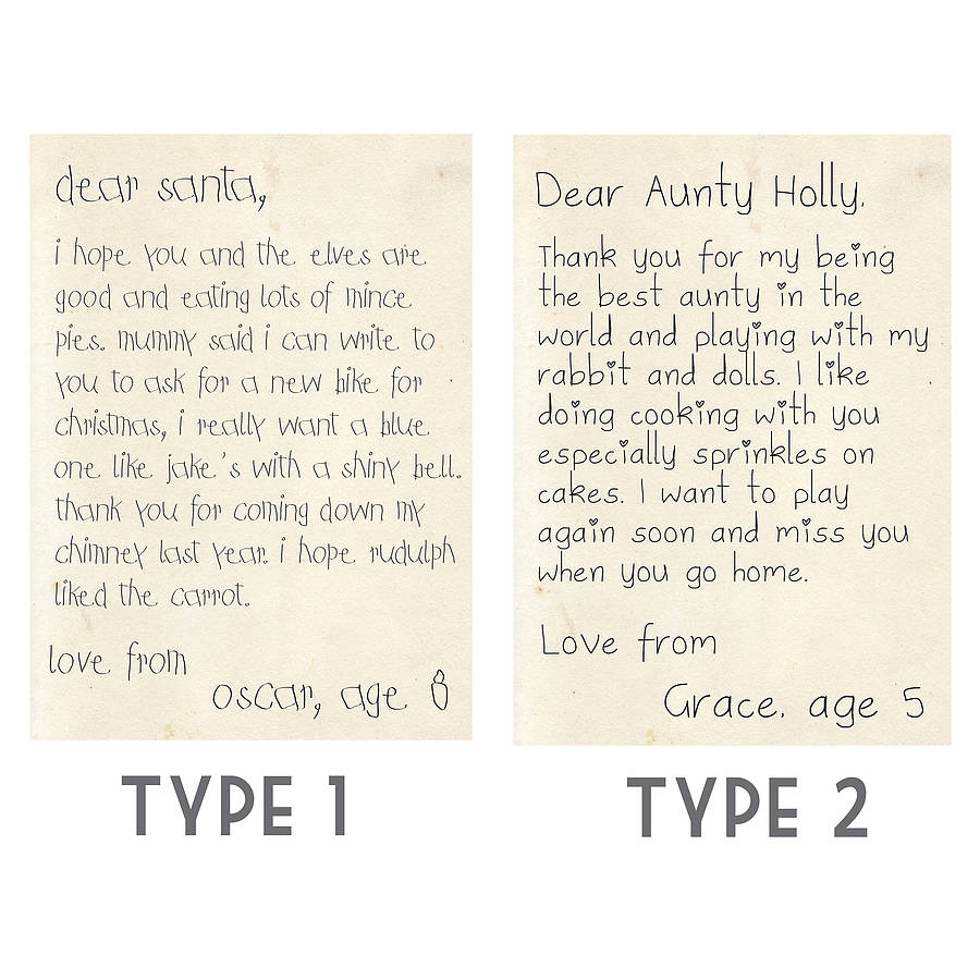 Personalised Child Writing Print