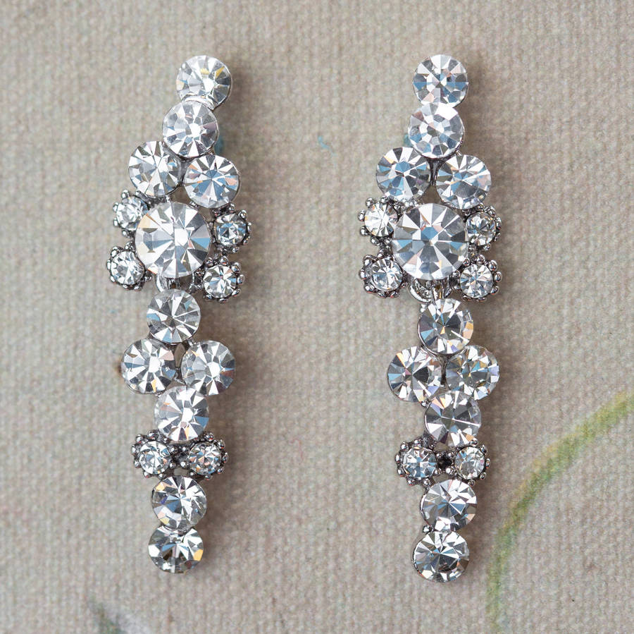 Lisbeth Crystal Cascade Drop Earrings