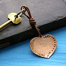 Seventh Anniversary Copper Key Ring Gift