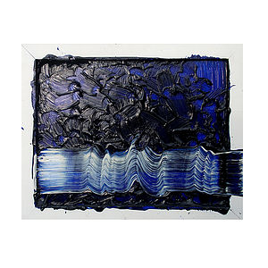 Etude Op 14 Bleu Artwork - paintings & canvases