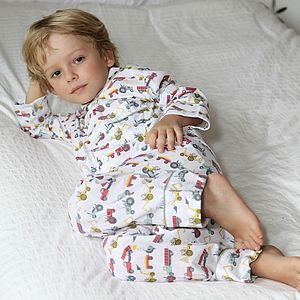 Tractor Print Pyjama - christmas clothes for babies and children