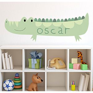 Crocodile Custom Name Fabric Wall Sticker - office & study
