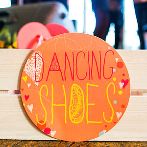 Dancing Shoes Circle Sign - outdoor decorations