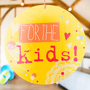 For The Kids Circle Sign - outdoor decorations