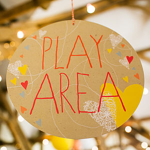 Play Area Circle Sign - outdoor decorations