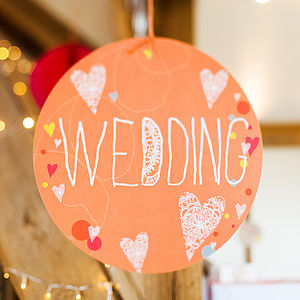 Wedding Circle Sign - decorative accessories