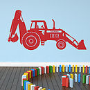 Personalised Tractor Digger Wall Sticker