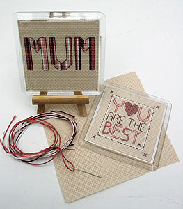 The Best Mum, Mothers Day, Cross Stitch Kit - model & craft kits