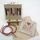 The Best Mum Or Dad, Coaster Cross Stitch Kit