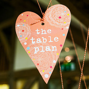 Bohemian Table Plan Heart