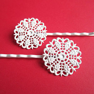 Vintage Style Lace Hair Clips - head pieces