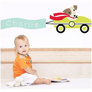 Little Racers Custom Fabric Wall Sticker