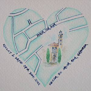 Personalised Wedding Map Heart