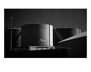 Lowestoft Gas Works, Black And White Signed Print