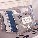 Varsity Quilted Pillowcase
