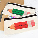 Personalised Coloured Pencil Case