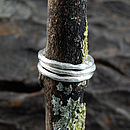 Band Single Textured Silver Stacking Ring