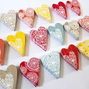 A8 Coloured Heart Multipack - summer parties