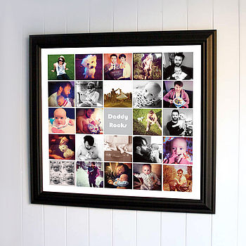 Photo Montage Print For Dads