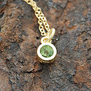 Gold And Peridot Dot Green Necklace