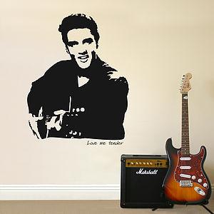Elvis 'Love me tender' Wall Sticker - decorative accessories