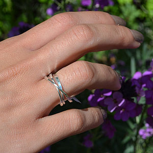 Sterling Silver Cosmic Ring - wedding & engagement rings