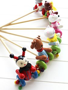 Wooden Push Along Toy - traditional toys & games