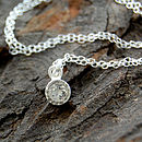 White Topaz Sterling Silver Necklace