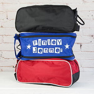 Personalised Block Letter Boot Bag - bags & cases