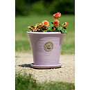Kew Botanic Gardens Tapered Pot With Saucer