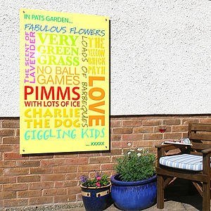 Personalised 'In My Garden…' Art Panel - art & decorations
