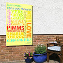 Personalised 'In My Garden…' Art Panel